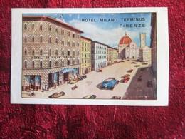 ITALIA HOTEL MILANO TERMINUS FIRENZE -Oude Toeristische Brochure-Ancien Dépliant Touristique-OLD Tourist Brochure - Dépliants Turistici