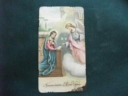 SANTINO HOLY PICTURE IMAGE SAINTE ANNUNCIAZIONE DI MARIA VERGINE - Religione & Esoterismo