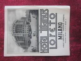ITALIA HOTEL MILANO TITANUS LORETO -Oude Toeristische Brochure-Ancien Dépliant Touristique-OLD Tourist Brochure - Folletos Turísticos