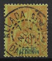GOLFE DU BENIN TYPE GROUPE N° 26 RARE OBLITERATION ALLADA DAHOMEY DU 7 NOV 04 - Benin (1892-1894)