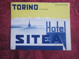 ITALIA HOTEL SITEA TORINO  -Oude Toeristische Brochure-Ancien Dépliant Touristique-OLD Tourist Brochure - Dépliants Turistici