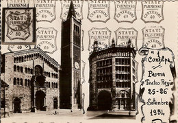 """(C).""""Confilpa"""".1° Convegno Filatelico Parmense.Cartolina A Tiratura Limitata E Numerata (c18) - Bourses & Salons De Collections"""
