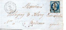 France : Landes : Lettre De Ygos Saint-Saturnin Pour Bordeaux - 1849-1876: Période Classique