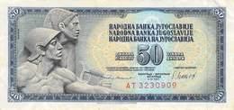 50 Dinar Banknote Jugoslawien 1981 VF/F (III) - Jugoslawien