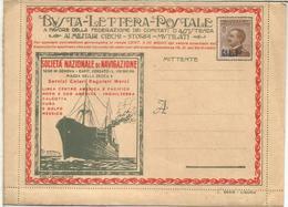 ITALIA BLP HACIA 1920S SERIE LIGURIA CARTA CON PUBLICIDAD DIVERSA BARCO SHIP BANK TYPEWRITER COGNAC COMIDA VINO MARSALA - Vinos Y Alcoholes