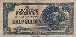 Netherland Indies 1/2 Gulden, P-122b - Very Good - Indie Olandesi