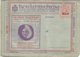 ITALIA BLP HACIA 1920S CON PUBLICIDAD AGUA WATER PELO HAIR PHARMACY AUTOMOVIL CAR CHILDREN ELECTRICIDAD MEDICINA BANK CA - Farmacia