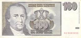 100 Dinar Banknote Jugoslawien 1996 VF/F (III) - Jugoslawien