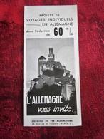 DEUTSCHLAND Alte Touristenbrosc-Vecchi Opuscoli Turistici-oeristische Brochure-Dépliant Touristique-OLD Tourist Brochure - Reiseprospekte
