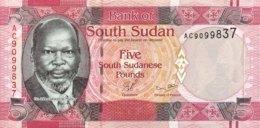 South Sudan 5 Pounds, P-6 (2011) - UNC - Sudan