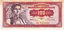 100 Dinar Banknote Jugoslawien 1955 VF/F (III) - Jugoslawien