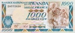 Rwanda 1.000 Francs, P-21 (1.1.1988) - UNC - Rwanda