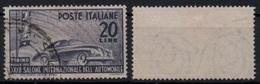 """Italia - Repubblica 1950 """"32° Salone Dell'Automobile Di Torino L. 20"""" Usato - 1946-60: Used"""