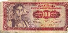 100 Dinar Banknote Jugoslawien 1955 VG/G (IV) - Jugoslawien