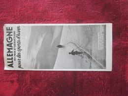 DEUTSCHLAND Alte Touristenbroschüre SKI SPORT Opuscoli Turistici-oeristische -Dépliant Touristique-OLD Tourist Brochure - Reiseprospekte