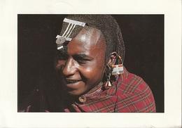 Cartolina Dalla Tanzania (Maasai Moran At Ngorongoro) - Per Ponzone 1989 (vedi Foto) - Tanzania