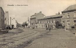 Floreffe - Place Du Centre (animée 1925, Machine Agricole à Vapeur ?) - Floreffe