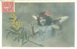 Cp   -  Enfants -    Bonne Année  ,  Ange        S607 - Scènes & Paysages