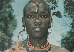 Cartolina Dalla Tanzania (Maasai Warrior) - Per Ponzone 1989 (vedi Foto) - Tanzania