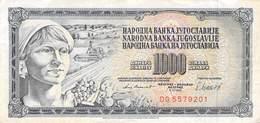 1000 Dinar Banknote Jugoslawien 1981 VF/F (III) - Jugoslawien