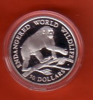 ENDANGERED WORLD WILDLIFE COOK-INSELN 50 Dollars Silbermünze Silver Coin / Ag 925 PP / Tiere Animals Affe Monkey - Cook