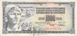 1000 Dinar Banknote Jugoslawien 1978 VF/F (III) - Jugoslawien
