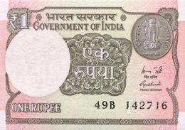 """India 1 Rupee, P-117a (2015) - UNC - """"L"""" - Indien"""