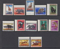 Congo 1960 Animals Ovptd 12v (+margin) ** Mnh (42938) - Republiek Congo (1960-64)