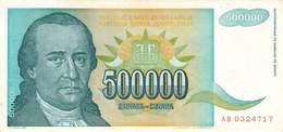 500 000 Dinar Banknote Jugoslawien 1998 VF/F (III) - Jugoslawien