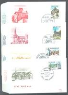 BELGIUM - 22.10.1977 - FDC - TOURISME - RODAN 521-524 - COB 1870-1873 - Lot 19601 - 1971-80