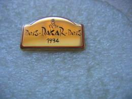 Pin's Plaquette De Couleur Dorée,  Paris - Dakar - Paris 1994 - Rallye