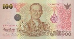 Thailand 100 Bath, P-124 (2011) - UNC - King's Birthday Banknote - Thailand