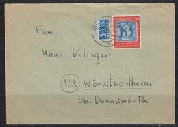 Dt.Reich Fernbrief Tübingen/18.5.50 Mit 1x 114 (100 Jahre Briefmarke) Mit Notopfer Berlin - BRD
