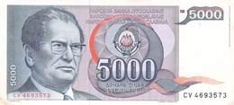 5000 Dinar Banknote Jugoslawien 1985 VF/F (III) - Jugoslawien