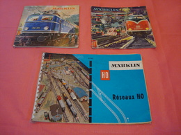 3 Catalogues Marklin 1960/1962 - Livres Et Magazines