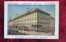 ITALIA TORINO GRAND HOTEL SITEA  VIA CARLOS ALBERTO  OGNI CONFORTO-Cartoline Piemonte Torino PUBBLICITA ' - Bar, Alberghi & Ristoranti