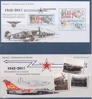 = Régiment De Chasse Normandie-Niémen Bloc Souvenir Neuf Feuillet De 2 Timbres 5167 Et 5167A à 1.30€ - Souvenir Blocks