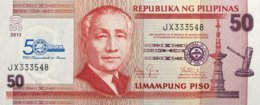 Philippines 50 Piso, P-217 (2013) - UNC - 50 Years Deposit Insurance - Philippinen