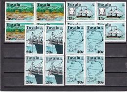 Tuvalu Nº 55 Al 58 En Bloque De Cuatro - Tuvalu