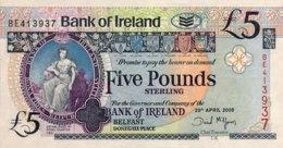 Northern Ireland 5 Pounds, P-83 (20.4.2008) - UNC - [ 2] Ireland-Northern