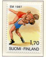PIA - FINLANDIA  - 1987 : Campionati Europei Di Lotta - (Yv 977) - Lotta