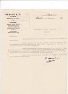 Courrier 1920 Debané & Cie, Rue Martel, Paris, Beyrouth, Syrie, à Lucien Foucauld & Cie Distillateur Cognac - Alimentaire
