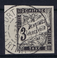 Colonies Francaises  Tax Yv 3 Cachet A Date  Martinique  Fort De France - Impuestos