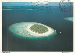 Cartolina Dalle Maldive (Atollo) - Per Bologna 1995 (vedi Foto) - Maldives