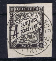 Colonies Francaises  Tax Yv 4 Cachet A Date  Martinique  Fort De France  Small Thin Spot - Postage Due