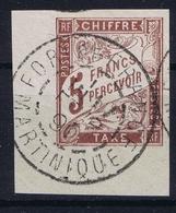 Colonies Francaises  Tax Yv 17 Cachet A Date Martinique Fort De France Light Fold - Postage Due