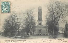 CPA 33 Gironde Lamarque Médoc Place De L'Eglise St Saint Seurin - Francia