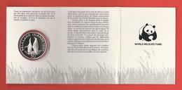 25 JAHRE WWF FALKLAND-INSELN 50 Pence Silbermünze Silver Coin / Ag 925 PP / Vögel Birds Pinguine Penguins - Malvinas