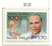 PIA - FINLANDIA  - 1987 : Centenario Della Nascita Del Puericultore E Pediatra Arvo Ylippo  - (Yv 995) - Medicina