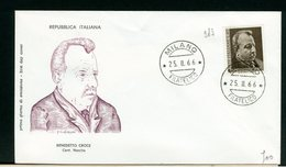 ITALIA - FDC - 1966 -  BENEDETTO CROCE - 6. 1946-.. Repubblica